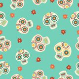 Day of the dead traditional sugar skull pattern Royalty Free Stock Photo
