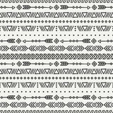 Day of the Dead. Tribal hand drawn line mexican ethnic seamless pattern. Border. Wrapping paper. Print. Doodles. Tiling. Handmade native vector illustration Stock Photo