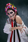 Day of the Dead in Ukrainian style Royalty Free Stock Photography