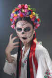 Day of the Dead in Ukrainian style Royalty Free Stock Image