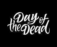 Day of the Dead - vector drawn brush lettering Royalty Free Stock Image