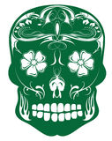 Day of the Dead Vector green filigree sugar skull Stock Images