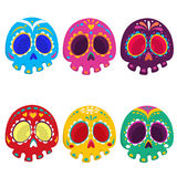 Day of the dead vector illustration set. Royalty Free Stock Photography