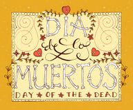 Day of the dead vector illustration set Royalty Free Stock Photography