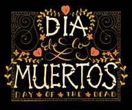 Day of the dead vector illustration set Royalty Free Stock Image