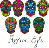 Day of the dead vector illustration set Royalty Free Stock Photo