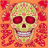 Day of the Dead. Vector illustration. Skull with floral decoration royalty free illustration