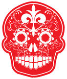 Day of the Dead Vector Red Sugar Skull. Red vector sugar skull with filigree detailing Royalty Free Stock Image