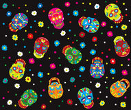 Day of the dead vector seamless pattern Stock Photos