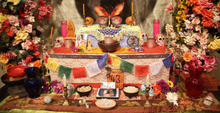 Day of dead voodoo alter Royalty Free Stock Photography