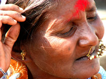 Day Dreamer. An old Indian senior day-dreaming Royalty Free Stock Photography