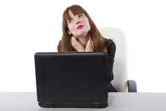 Day Dreaming Businesswoman Stock Image