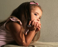 Day-dreaming Child Stock Photography