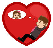 Day Dreaming of a Girl in Romance Vector Stock Photos