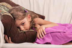 Day dreaming little child Royalty Free Stock Photography