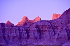 Day End in Badlands Stock Photos