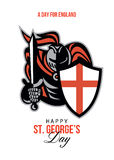 A Day for England Happy St George Greeting Card Stock Photo