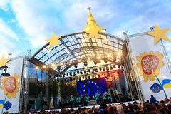 Day of Europe in Ukraine 2015 Stock Photo