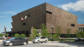 Day Exterior Establishing Shot National Museum of African American History and Culture. 8998 WASHINGTON, D.C. - Circa August, 2017 - A daytime exterior stock video footage