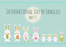 Day of Families card template Stock Images
