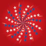 Day_fireworks da independência Imagem de Stock
