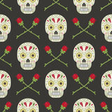 Day fo the dead pattern Stock Image