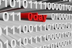 0day. In the form of binary code, 3D illustration vector illustration