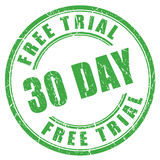 30 day free trial rubber stamp Royalty Free Stock Photography