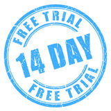 14 day free trial rubber stamp. 14 day free trial rubber ink stamp Stock Photography