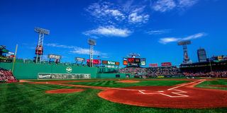 Day Game at Fenway Park, Boston, MA. Stock Images