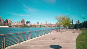 Day gantry plaza state park bay 4k time lapse from new york stock footage