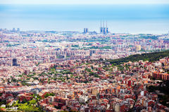 Day general view of Barcelona cityscape Royalty Free Stock Images