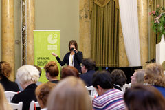 Day of German teachers in St. Petersburg Stock Photography
