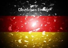 Day of German unity abstract design. Tag der deutschen Einheit Royalty Free Stock Image