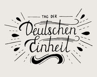 Day of German unity lettering. Stock Photo