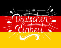 Day of German unity lettering. Royalty Free Stock Photo