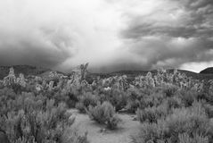 Day of Gloom. A gloomy day in Death Valley Stock Photo