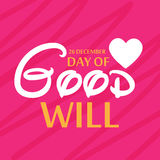 Day of Good Will. Creative banner or poster for Day of Good Will Royalty Free Stock Image