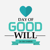 Day of Good Will. Creative banner or poster for Day of Good Will Stock Photo