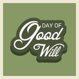 Day of Good Will. Creative banner or poster for Day of Good Will Stock Photos