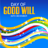 Day of Good Will. Creative banner or poster for Day of Good Will Royalty Free Stock Photography