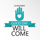 Day of Good Will. Creative banner or poster for Day of Good Will Royalty Free Stock Photos