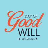 Day of Good Will. Creative banner or poster for Day of Good Will Royalty Free Stock Photo