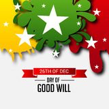 Day of Good Will. Creative banner or poster for Day of Good Will Stock Images