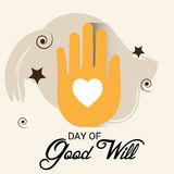 Day of Good Will. Creative banner or poster for Day of Good Will Stock Photography
