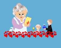 Day grandmother Stock Photo