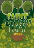 Day poster design template vector St. Patrick Easy to edit elements - Format A4. Day green poster design template vector St. Patrick Easy to edit elements Stock Photo