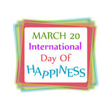 Day of Happiness card for web Royalty Free Stock Image