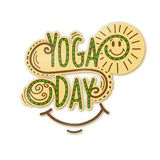 Day of health, yoga. Vector ,illustration royalty free illustration