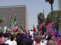 A Day without an Immigrant Boycott. A photograph of A Day without an Immigrant boycott on May 1st in Los Angeles, California Royalty Free Stock Photography